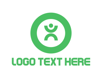 Fit - Green Person logo design