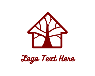 Log - Brown Tree House logo design