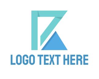 Letter K - Triangle Letter logo design