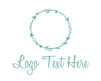Twig - Floral Circle logo design