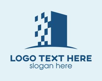 Pixelated - Digital Building logo design