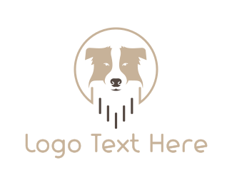 Lead - Friendly Dog Badge logo design