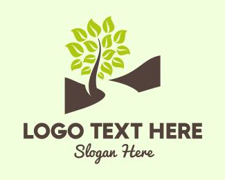Foliage - Brown Road & Green Tree logo design
