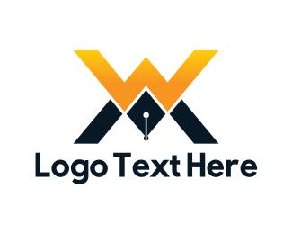 Letter W - W & M logo design