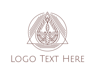 India - Abstract Nature logo design
