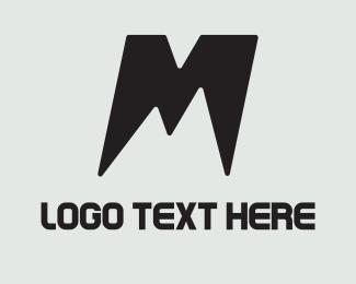 Ski - M Mountain logo design