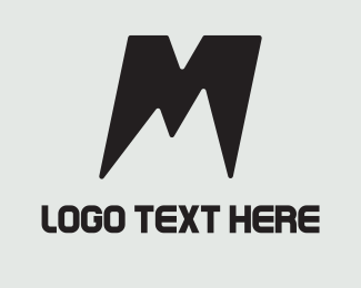 Skiing - M Mountain logo design