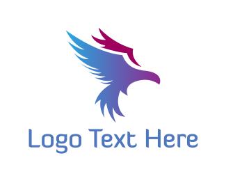 Bald Eagle - Purple Eagle logo design