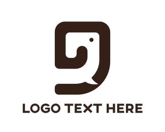 Thailand - Brown Elephant Outline logo design