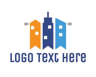 Flag - Flag City  logo design