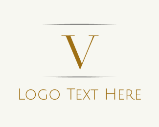 """Gold Letter V"" by BrandCrowd"