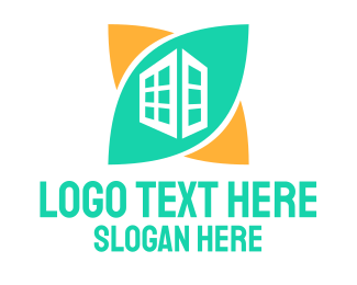 Ecology - Green Skyscraper logo design