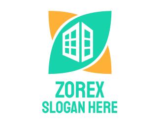 Real Estate - Green Skyscraper logo design