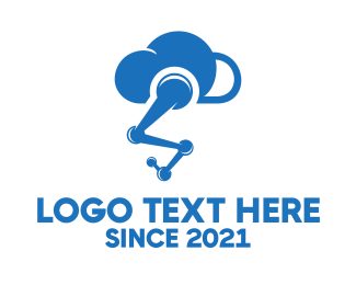Cloud - Robot Cloud logo design
