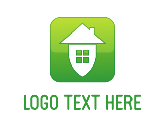 Security - Green Home logo design
