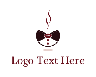 Bowtie - Coffee Bow logo design