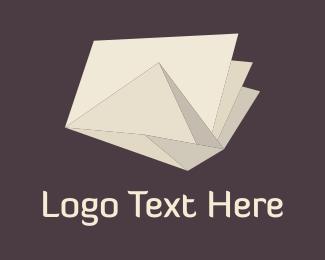 Folded - Origami Ivory Paper  logo design