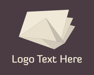 Ivory - Origami Ivory Paper  logo design
