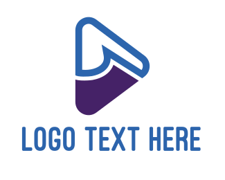 Play - Blue & Purple Play logo design
