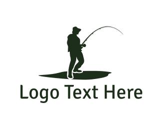 Fisherman - Fisherman Silhouette logo design