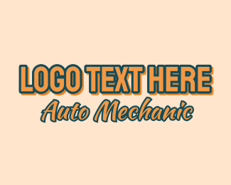 Panel Beater - Auto Mechanic Font logo design