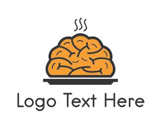 Plate - Brain Food logo design