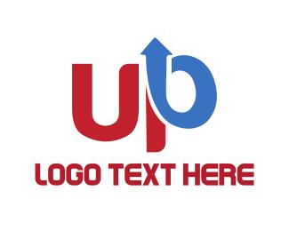 Text - Up Arrow logo design