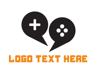 Joystick - Game Chat logo design