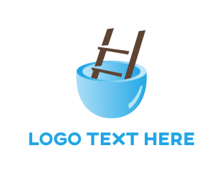 Stairs - Pool Ladder logo design