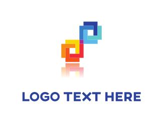 Spectrum - Pixel Tie logo design