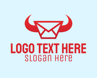Byson - Red Horn Messaging logo design