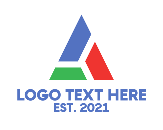 Construction - Block Triangle logo design