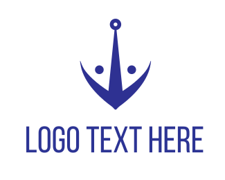 Sailor - Fish Anchor logo design