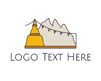 Tibetan - Tibet Mountains logo design