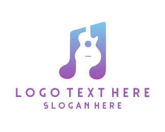 Tune - Music Guitar logo design