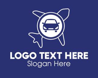 Airport - Car & Airplane logo design