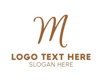 Bronze - Bronze Letter M logo design