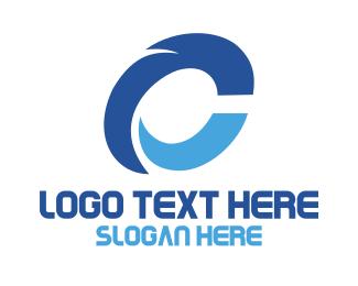 Programmer - Blue Tech Letter C logo design