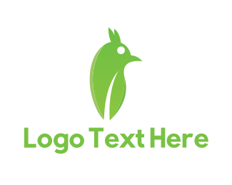 Friendly - Green Abstract Bird logo design