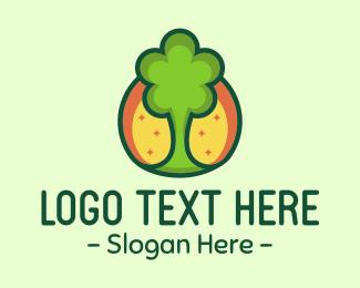 Sunny - Green Tree logo design