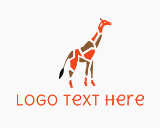 South Africa - Giraffe Puzzle logo design