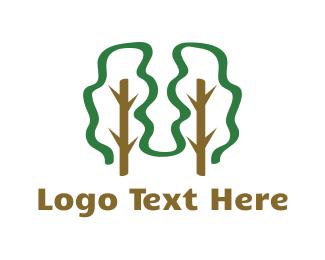 Eco-friendly - Twin Trees logo design