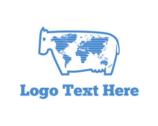 World - World Milk logo design