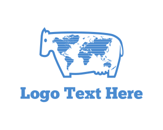 Worldwide - World Milk logo design