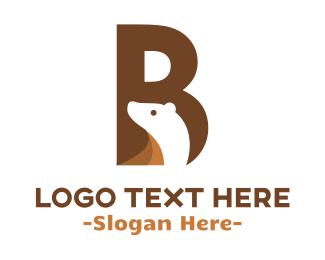 Teddy Bear - Bear Letter B logo design