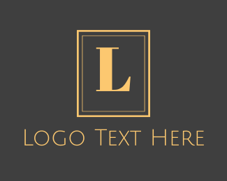 Villas - Gold Text Emblem logo design