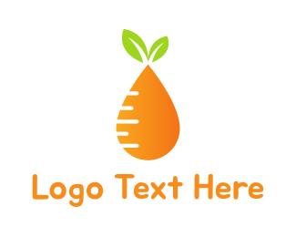 Sauce - Carrot Drop logo design