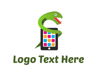 Phone Repair - Mobile Snake logo design