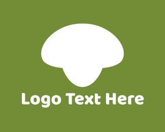 Fungus - White Mushroom logo design