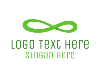Number 8 - Infinite Green Ribbon logo design